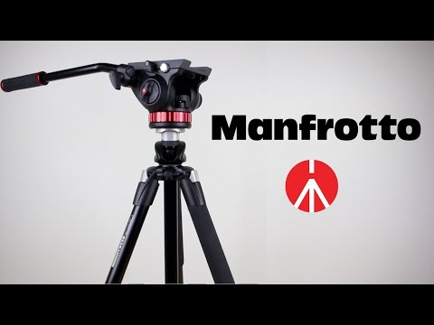 Manfrotto 055XPROB Tripod & MVH502AH Video Head (Unboxing)