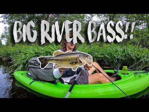 Kayak Fishing In Crystal Clear Michigan River!!