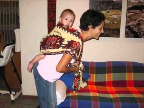 How to carry a baby with Kenya Kanga Leso