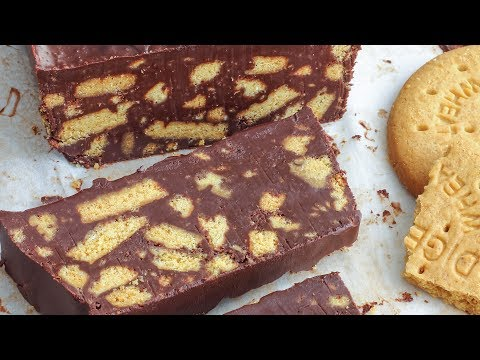 No Bake Chocolate Biscuit Cake Recipe - Only 4-Ingredients | Happy Foods Tube