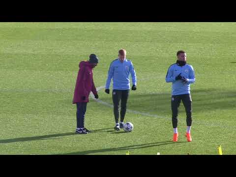 Man City train ahead of Basel clash