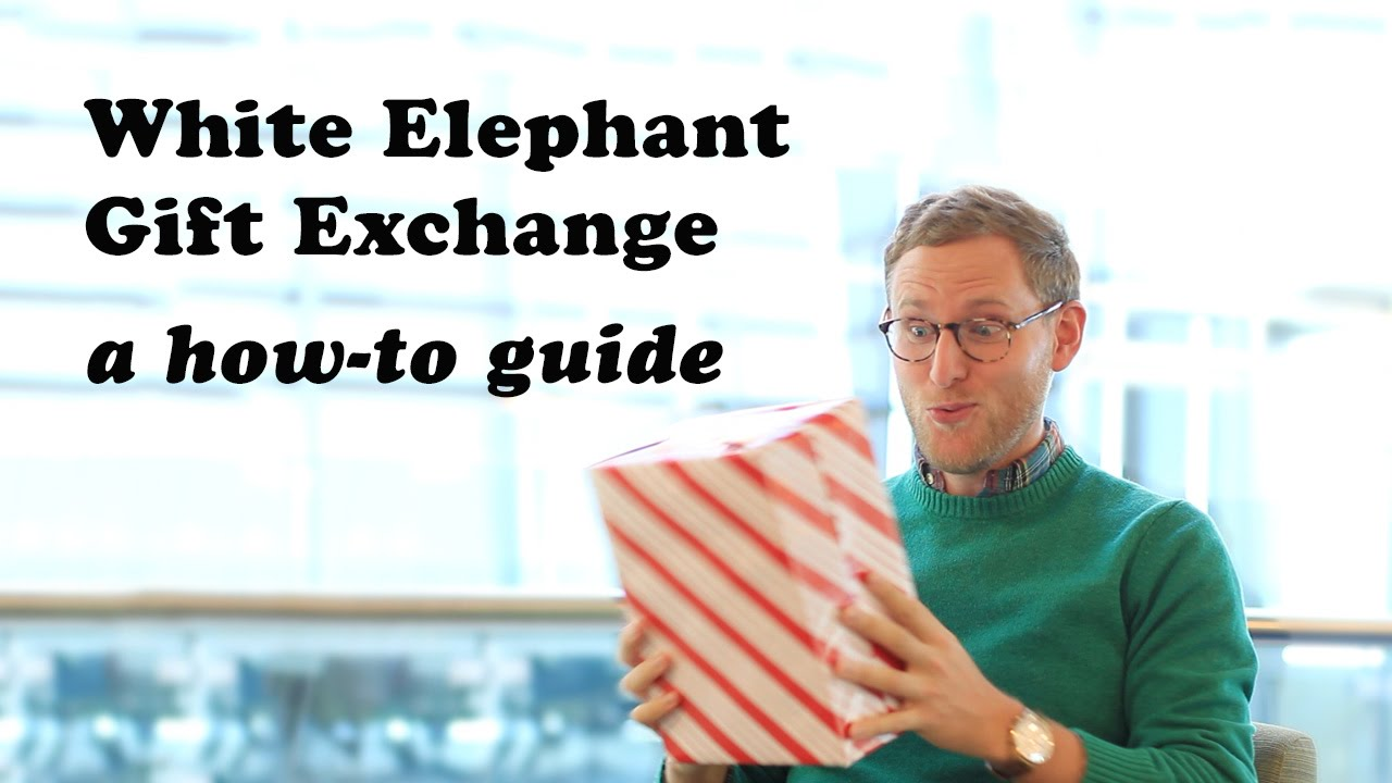 White elephant gift exchange a how to guide youtube negle Gallery