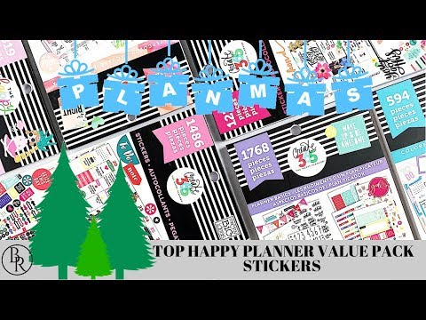 Top Happy Planner Value Pack Stickers // PLANMAS DAY 12 | Plans by Rochelle