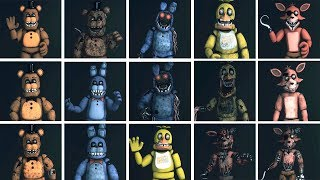 FNaF SFM: Original Four - Characters Appearance Timeline (Series Backstage Animation) thumbnail