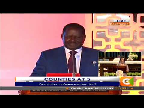 MCAs are paralysing counties, governors have pay for their cabinet to be passed - Odinga