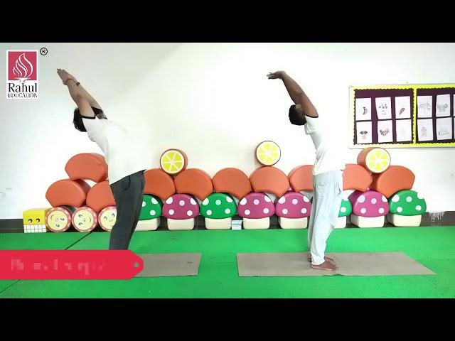 Physical education yoga class for learners of grade 1 to 12 (Surya Namaskar)