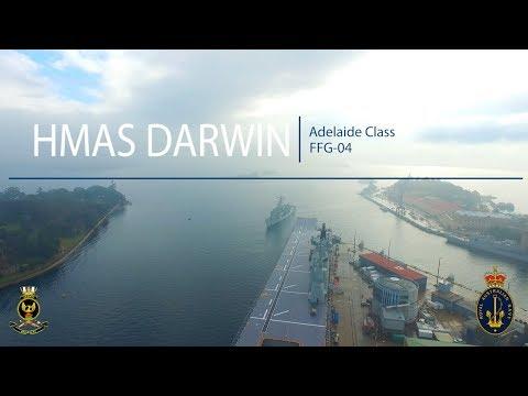 HMAS Darwin Aerial Drone Video Sydney Harbour
