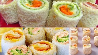 Sandwich Rollups Recipe - Bread Sushi Recipe - Kid