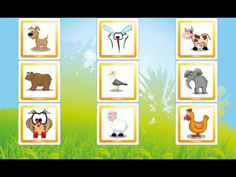 Usaqlar ucun ingilis dilinde heyvan adlarini oyrenmek | kolay ingilizce hayvan isimlerini oğrenelim.