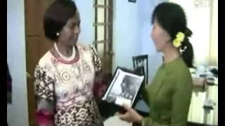 Daw Aung San Suu Kyi meet  Mrs.Maite Nkoana-Mashabane