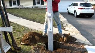 Granite Yankee Mailbox Post Installation