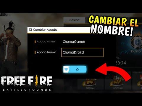 Free Fire Como Cambiarte El Nombre Esto Es Mas Caro Que Nada