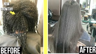 KERATIN TREATMENT ROUTINE ON RELAXED HAIR + LENGTH UPDATE