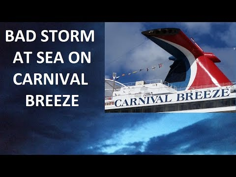 Thunderstorm Attacks Carnival Breeze Cruise Ship - My Story (Re-edit)