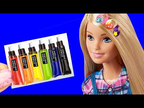 26 DIY BARBIE IDEAS ~ Miniature Paints, Hairpins, Donuts, Toothpaste AND MORE Crafts!