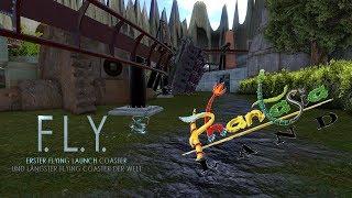 F.L.Y. @Phantasialand (Rookburgh) Concept [NoLimits 2] +++Vekoma Launched Flying Coaster+++ (4K)