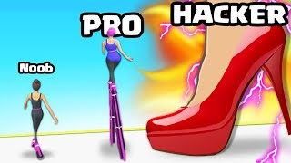 I ran THE HIGHEST LEVEL HIGH HEELS in High Heels!
