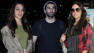 Bollywood Celebs Spotted At Mumbai Airport   Kiara Advani, Lauren Gottlieb, Aditya Roy Kapur
