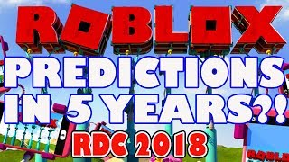 What Will Happen To Roblox in 5 Years?! - RDC 2018 - Thoughts On Predictions From CEO David Baszucki