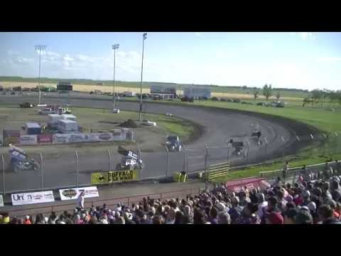 Red River Valley Speedway 07/17/2016 - NOSA Sprints   Heat 3