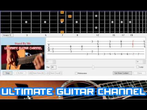 Guitar Solo Tab Stand By Me Youtube