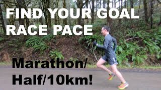 HOW TO FIND YOUR RACE PACE FOR THE HALF MARATHON 10KM MARATHON Sage Running Tips