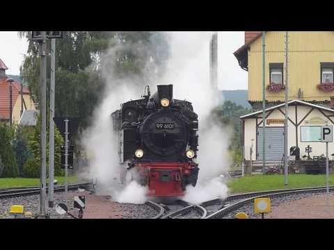 """HSB Fotosafari mit Dampflok """"Pfiffi"""" 99 6101 und GmP auf der Selketalbahn"""