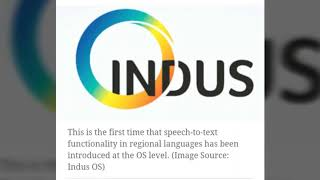Indus OS speech - to - text feature now in 23 Indian languages