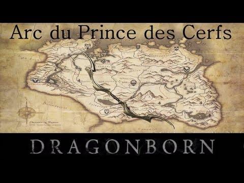 Skyrim Dragonborn : Arc le plus puissant et unique du jeu - Arc de Verre du Prince des Cerfs