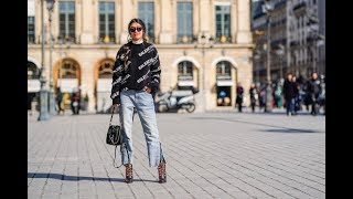 How French Women Are Wearing the Wide Leg Jeans Trend