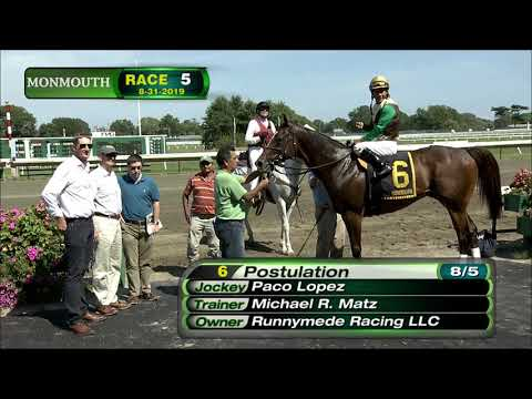 video thumbnail for MONMOUTH PARK 8-31-19 RACE 5 – PRESIOUS PASSION STAKES