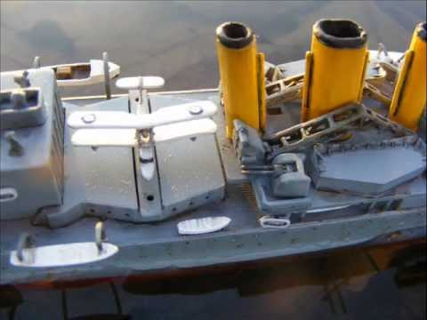 Wwll British Warship Hms Suffolk 1 600 Scale Model Youtube