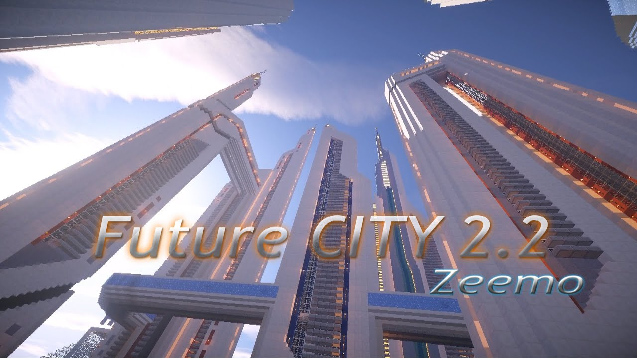 ville futuriste minecraft