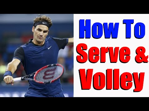 How To Serve and Volley In Tennis | Free Tennis Lessons Online
