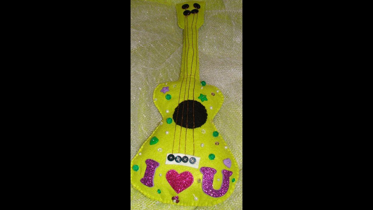Tutorial guitarra en fieltro detalles para regalar en - Creatividad para regalar ...