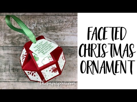 Faceted Christmas Ornament