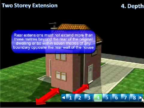 2 storey extension Planning Permission Tutorial - YouTube