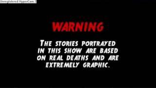 1000 Ways To Die Warning Note