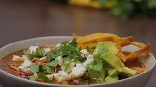 How To Make Instant Pot Chicken Tortilla Soup • Tasty Recipes