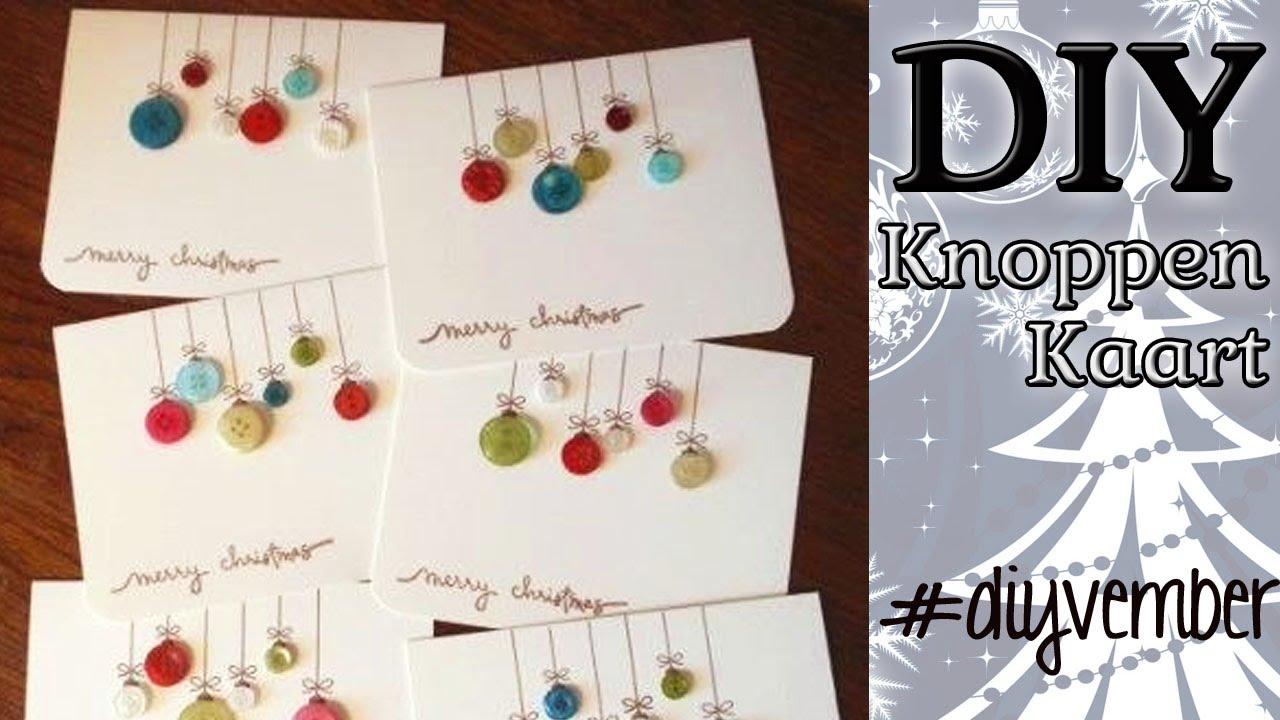 Genoeg DAG 5 Diy KerstKaart Zelf Maken DIYVEMBER - YouTube @BK71