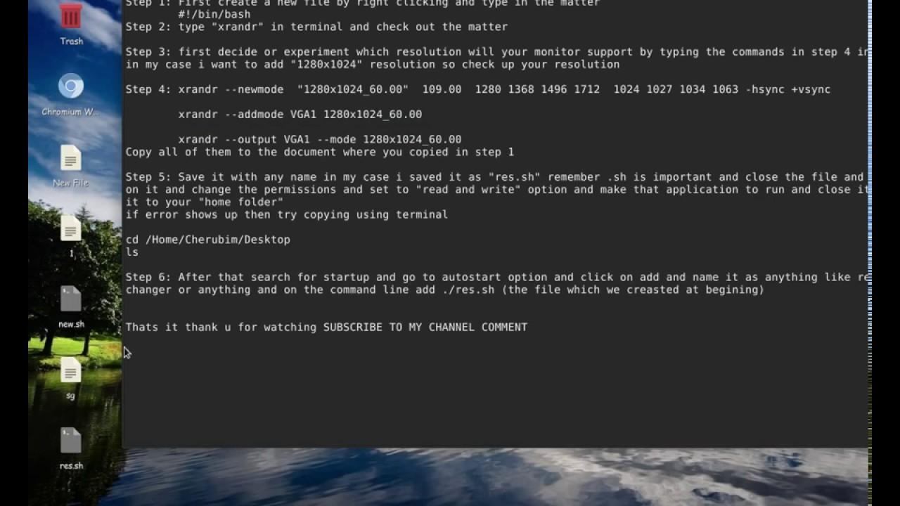 Add custom resolution in MX 16 Linux( Ubuntu/Debian) [100