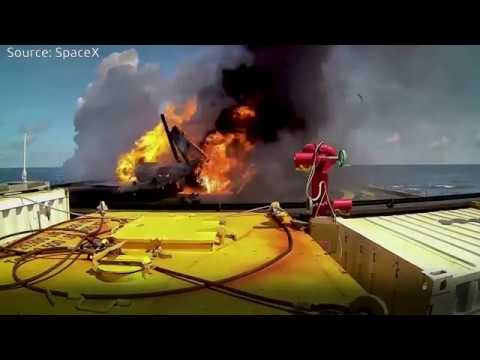 SpaceX Rocket Landing Failures - Never Give Up