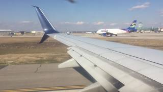 Delta 737-900 Pushback, Taxi, and Takeoff from Detroit