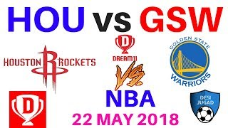 HOU vs GSW Dream 11,hou vs gsw dream 11,Hou vs Gsw Dream 11 Today 22 May 2018 Probable Players nba