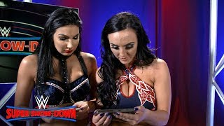 The IIconics react to their family watching them at WWE Super Show-Down: WWE Exclusive, Oct. 6, 2018