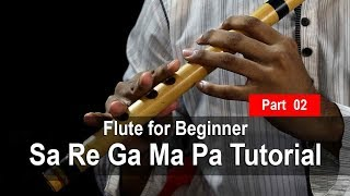 How to play Flute । Sa Re Ga Ma Pa Tutorial