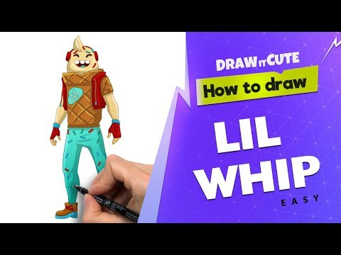 How to draw Lil Whip easy  | Fortnite Season 7  step-by-step tutorial with coloring page