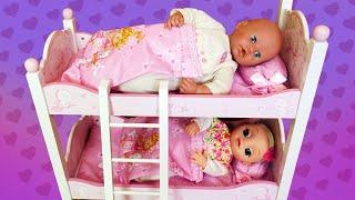Lit superposé pour le poupon baby born Annabelle. Vidéos pour enfants