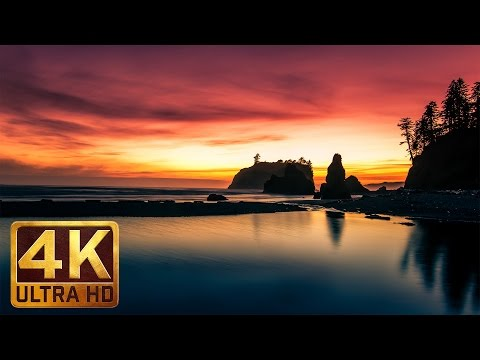 3.5 HRS Peaceful Lullaby with Natural Scenery in 4K -OCEAN SUNSETS. Part 7