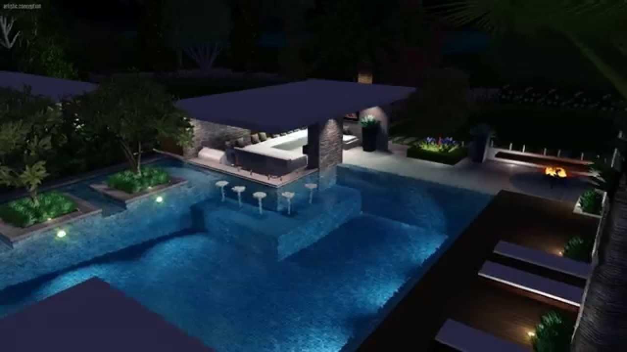 Amazing Award Winning Resort Style Pool Design